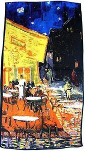Foulard soie Vincent Van Gogh café de nuit France Provence Saint Remy Noche B