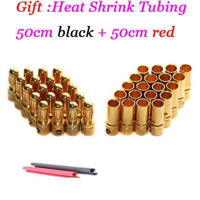 20 pairs 3.5mm Gold Bullet Connector plug for RC ESC Battery Motor