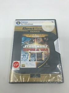 STAR WARS EMPIRE AT WAR GOLD PACK PC DVD Video Game LucasArts NEW Rare