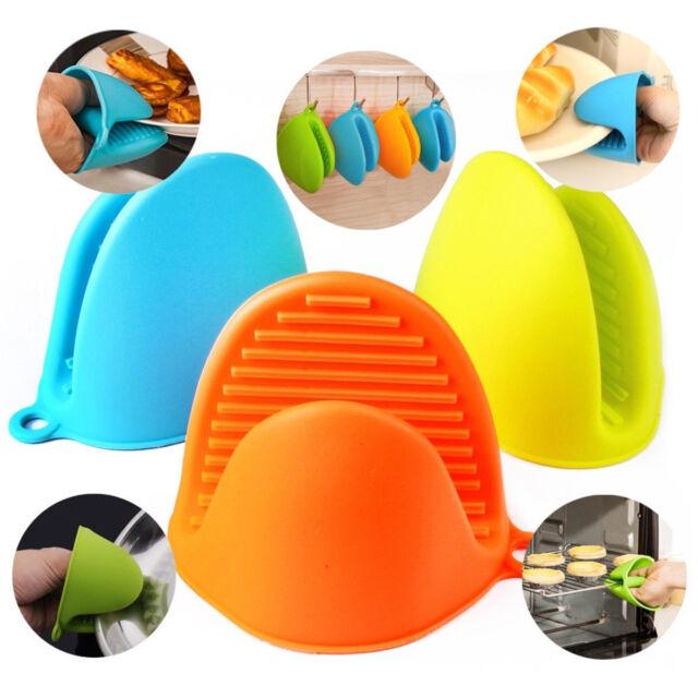 Silicone Heat Resistant Glove Grip Oven Pot Cook Mitt Protector Holder Kitchen