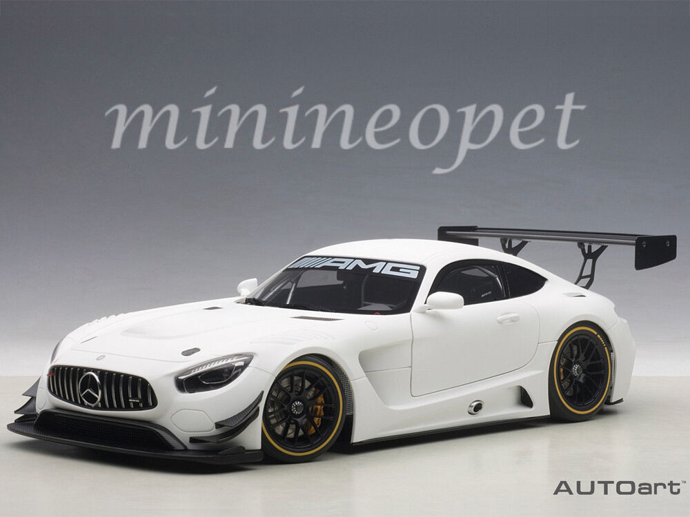 AUTOart 81531 MERCEDES BENZ AMG GT3 1 18 MODEL PLAIN Coloree VERSION MATTE blancoo