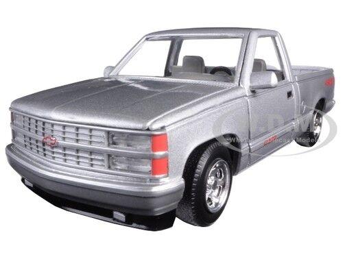 1992 CHEVROLET SS 454 PICKUP TRUCK SILVER 1//24 DIECAST CAR MODEL MOTORMAX 73203