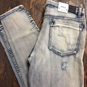 Slakker Slouch 70 Slim 29 Taille Slim Distressed Jeans 886464986612 Nouveau Rvca S1qdwHH
