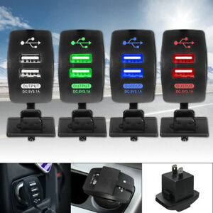 Universal-Dual-Double-Port-2-USB-12V-In-Car-Socket-Lighter-Charger-Adapter