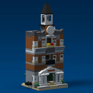 LEGO-Mini-Modular-Town-Hall-10224-PDF-Instructions-LDD-Files