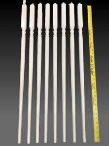Details About 8 36u201d White Primed Wood Stair Banister Spindles