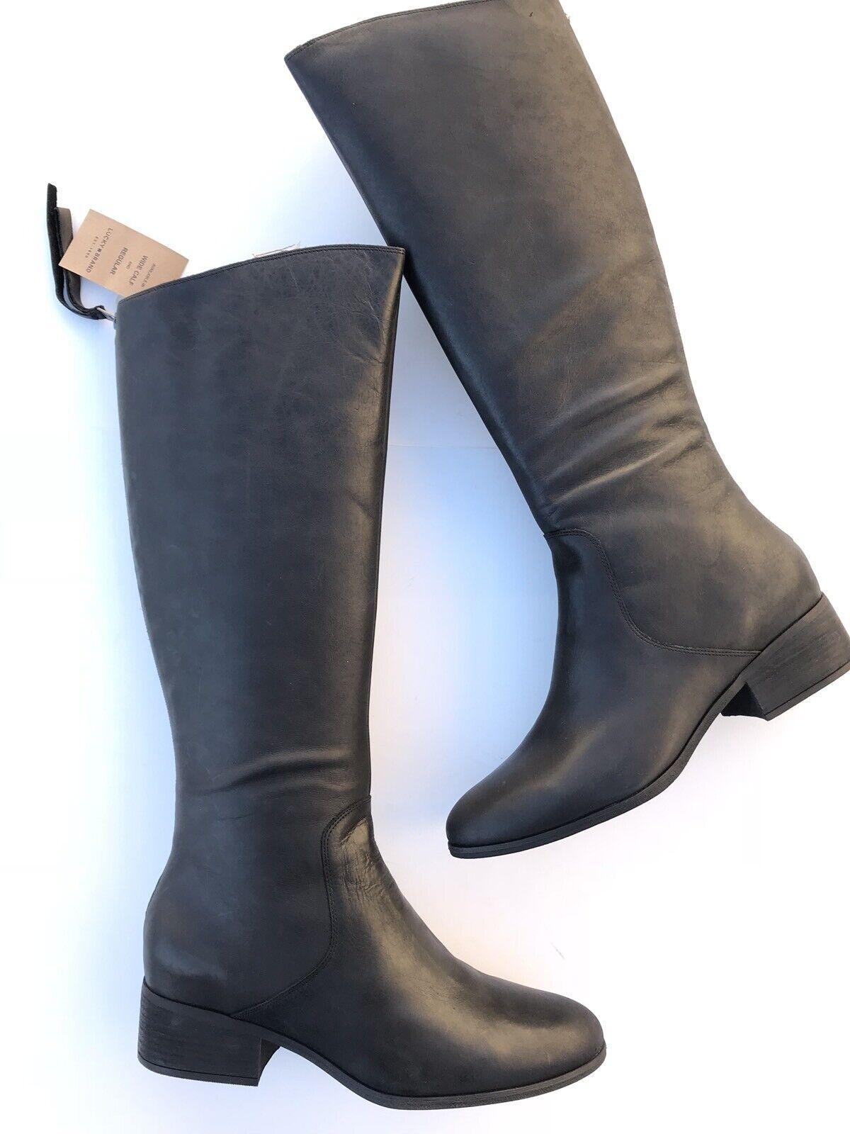 Lucky Brand Para Mujer sobre la rodilla botas de Montar lanesha Negro Sólido