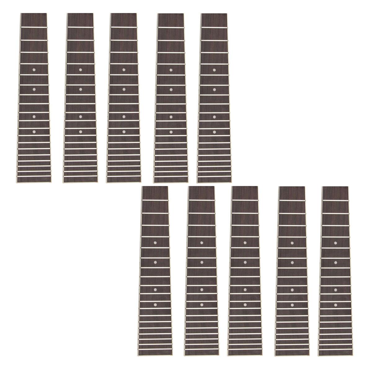 Ukulele pinkwood Fretboard Fingerboard for 6 String 28 Inch Ukelele Parts 10Pcs