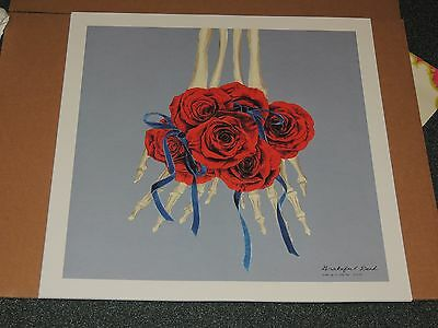"""Grateful Dead - Spring 1990 Hands & Roses """"Wake Up To Find Out"""" Art Print"""