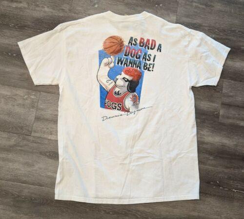 Vintage 90s 1995 Dennis Rodman x Big Dogs Shirt  D