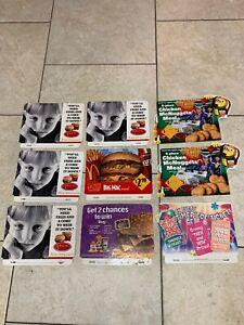 9-McDonalds-POS-Display-Sign-Advertisement-Cardboard-Lot-Big-Mac-Disney-1968