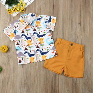 Toddler-Newborn-Kids-Baby-Boys-Clothes-T-shirt-Tops-Short-Pants-Outfits-Sets