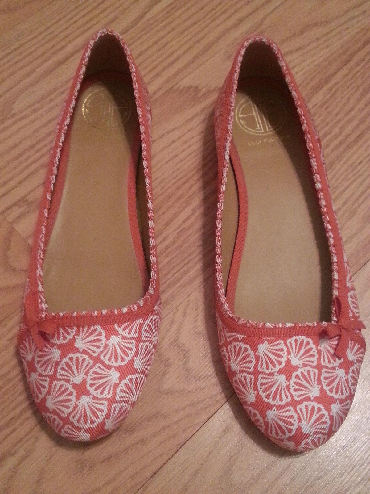 Lilly Pulitzer Via Palm Beach Ballet Flat  scarpe Dimensione 6.5 Coral ICUE  seleziona tra le nuove marche come