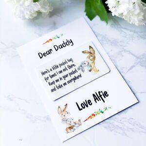 Cute Rabbit Friend Mum Daughter A6 Missing you postcard greeting card pocket hug