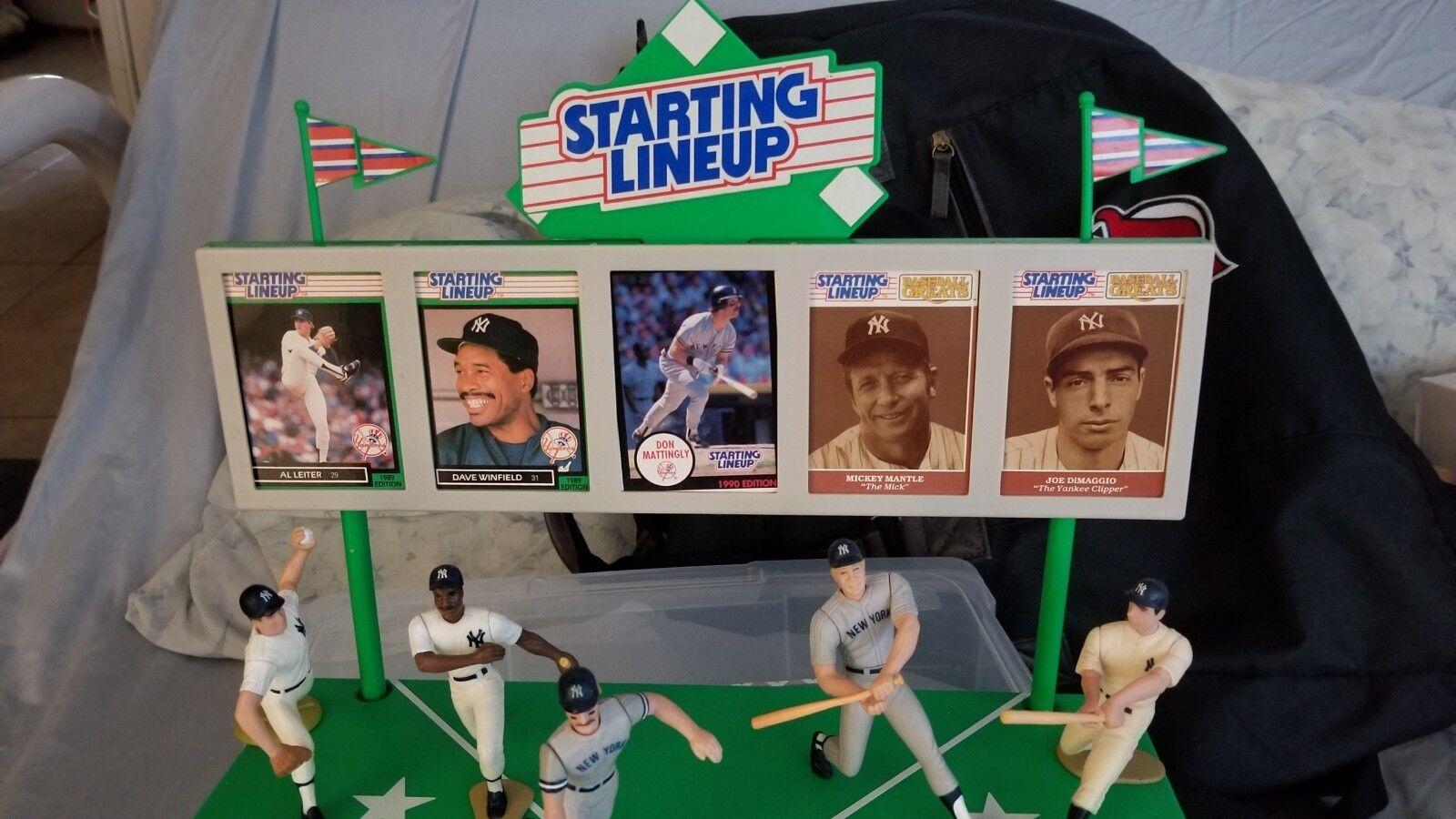 1988 starting lineup Display of NY Yankees