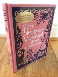 Lewis-Caroll-Alice-039-s-Adventures-in-Wonderland-Leather-Bound-hardback