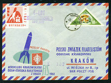 1962 POLAND cover KRAKOW AEROCLUB rocket 2 NOWY TARG - EZ 3C2