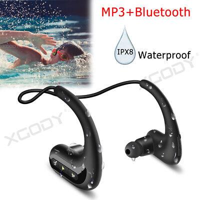 Detalles acerca de 8GB Auricular inalámbrico de Natación Impermeable Deportes Auriculares Bluetooth Headset MP3 mostrar título original