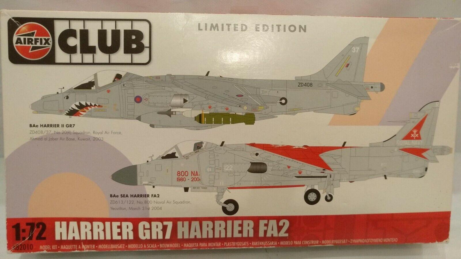 Vintage 1 72 Airfix Club BAe Harrier II GR7 & BAe Sea Harrier FA2 Aircraft Model