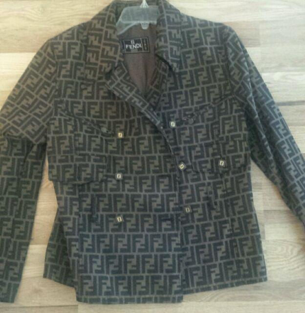 Fendi Zucca print jacket size 42 trench