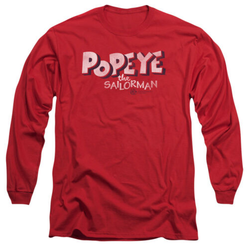 Popeye the Sailorman Comic Book 3D LOGO Licensed Adult Long Sleeve T-Shirt S-3XL