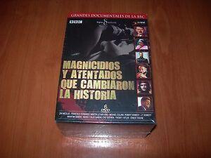MAGNICIDIOS-Y-ATENTADOS-QUE-CAMBIARON-LA-HISTORIA-PACK-6-DVD-ZONA-2-NUEVO