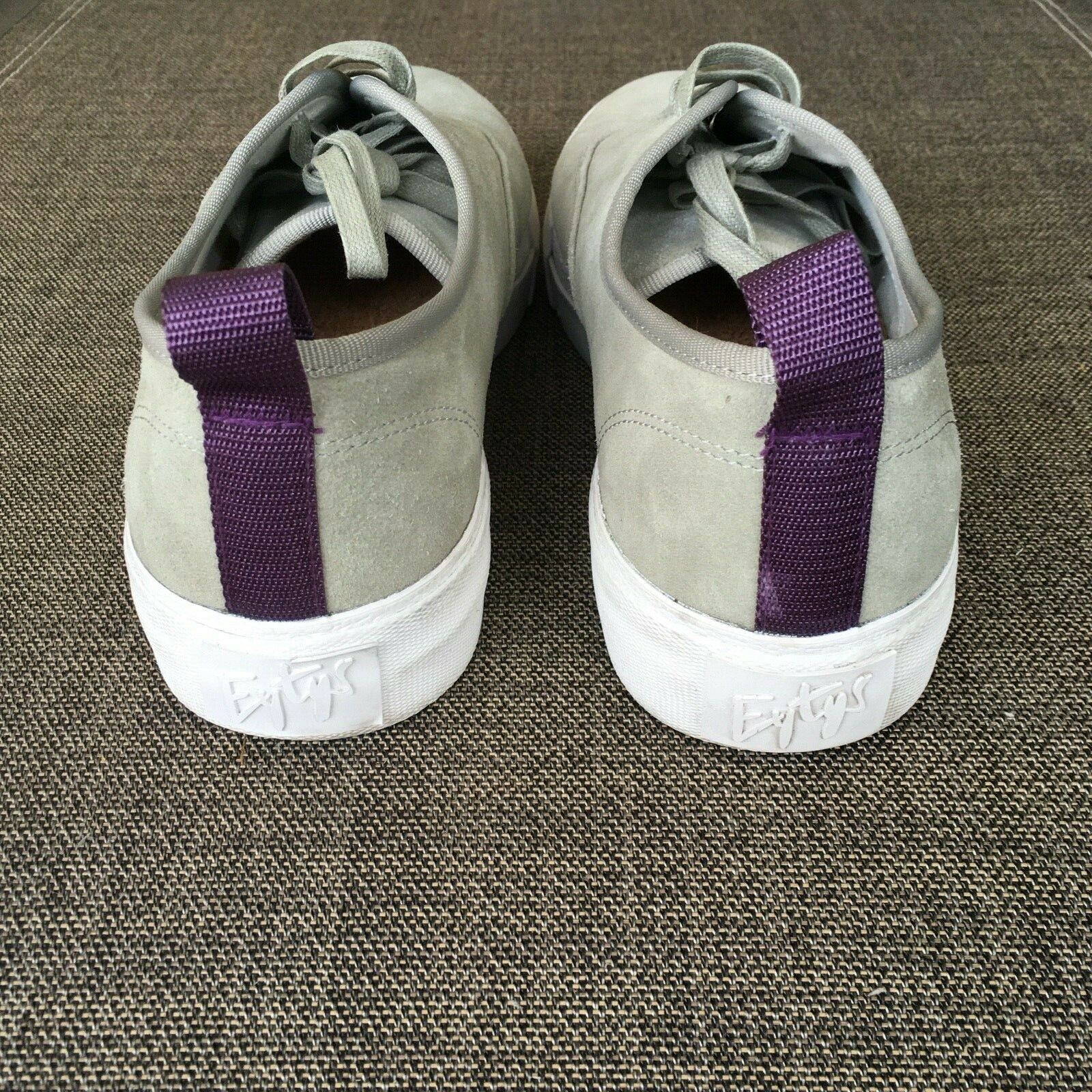 EYtys Mens Suede Skateboard Style Sneakers Gray S… - image 3
