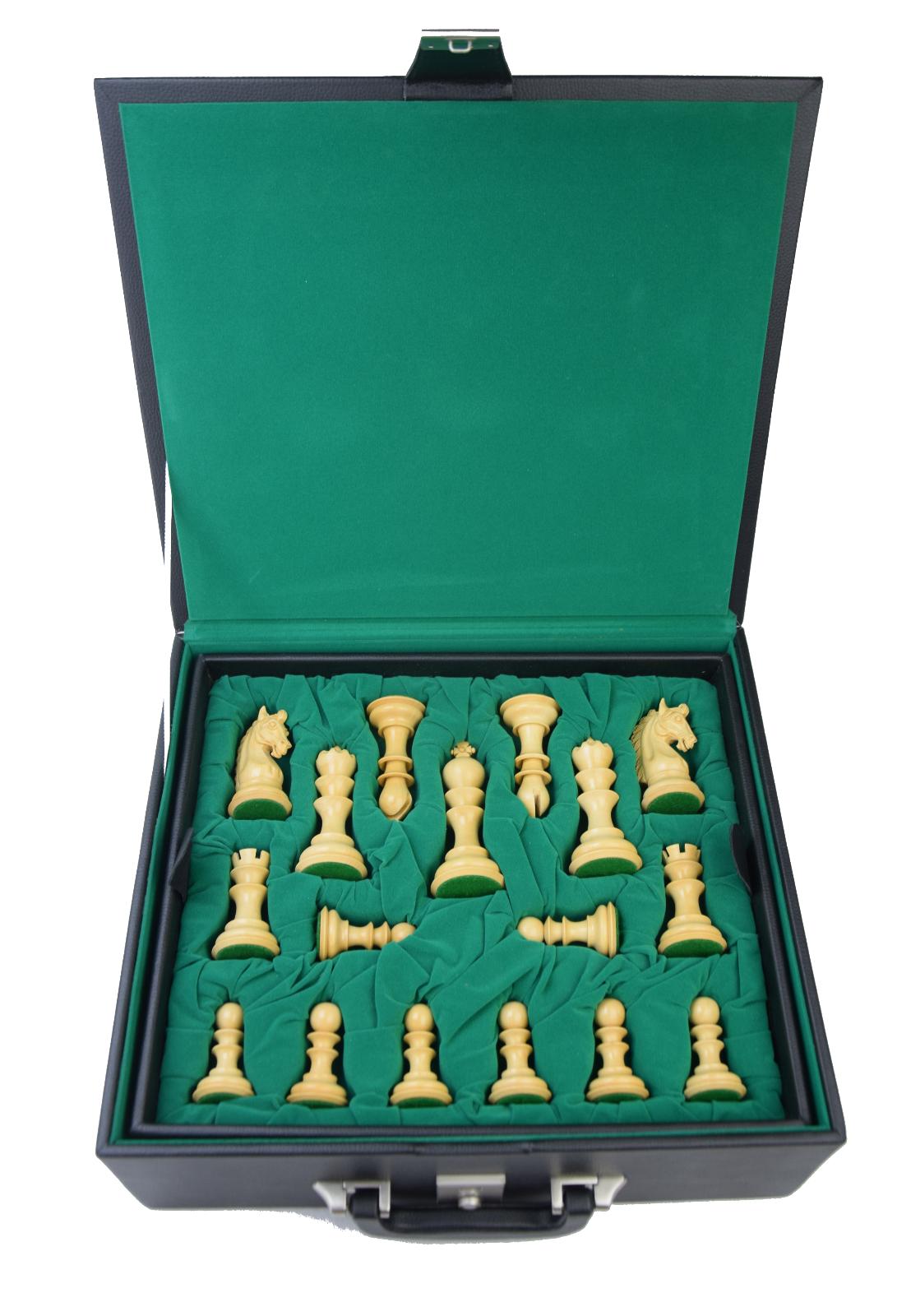 ROOGU Roman Empire Magnificient XL Chess Figures Set Million Dollar Dollar Dollar Case KH4.7'' 51ea18