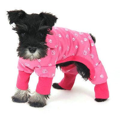 Pet Dog Clothes Jumpsuit Soft Cozy Puppy Dog Shirt Costumes Cat Pajamas Apparel