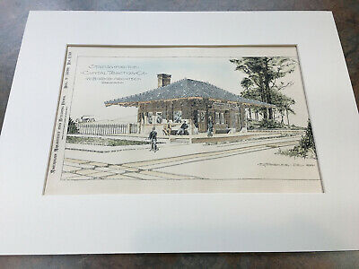 Washington Dc Capital Traction Co. 1899 Generous Station Original Hand Colored