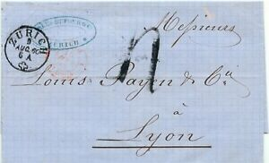 Suiza-034-zurich-034-k1-extranjero-carta-m-remitente-sello-u-rojo-k2-suisse-st-Louis