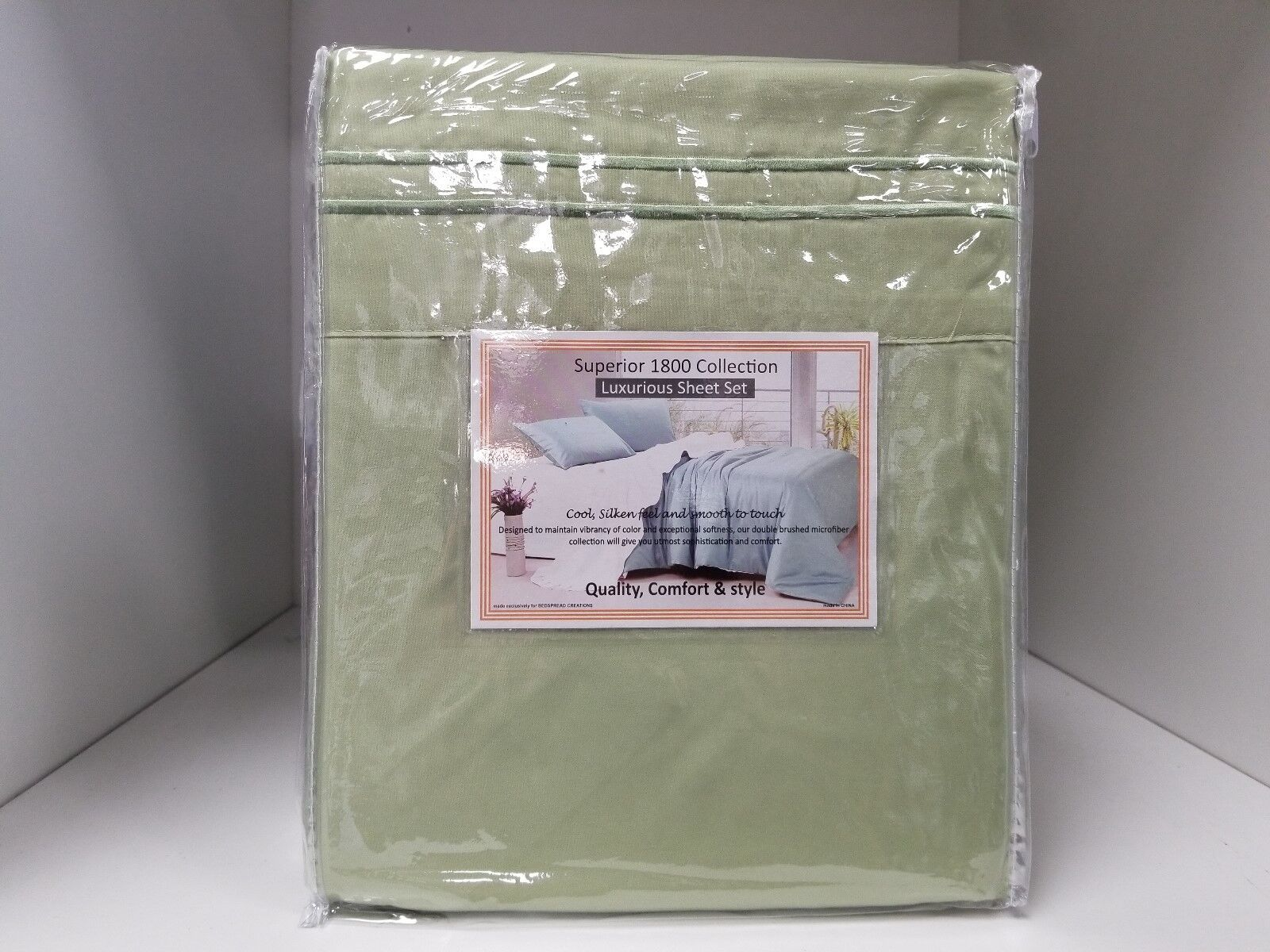 Microfiber Wood Frame Waterbed Sheet Set - Super Single 4 pillowcases Sage