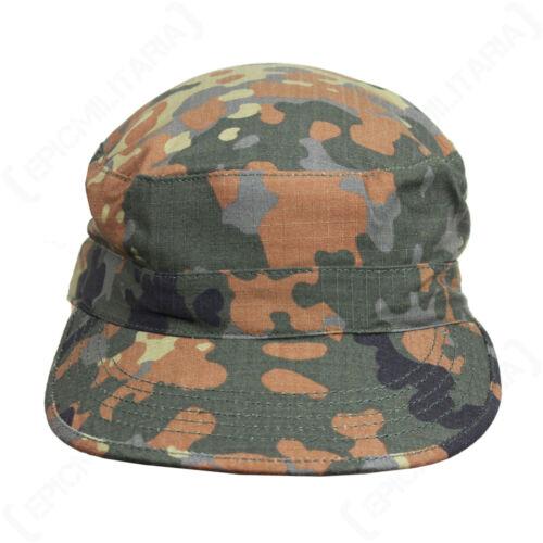 Flecktarn Camo BDU CAP Army Field Hat US American Ripstop Camouflage All Sizes
