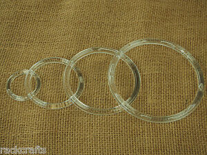Craft rings ringlet loop circlet hoolahoop halo band heavy for Large plastic rings for crafts