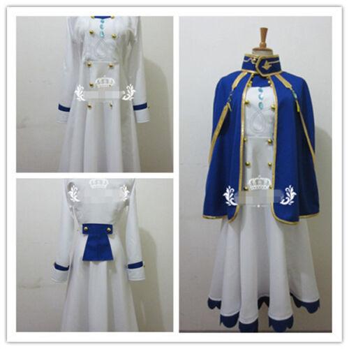 Details about  /Akagami no Shirayuki hime Shirayuki Pharmacist Dress Blue White Cosplay Costume