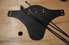 Mud guard for Mountain Bike - Wight Plactik with Black carbon 4d fiber vinyl