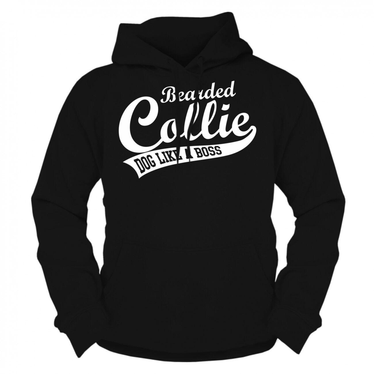 Kapuzenpullover Sweatshirt Hoodie Bearded Collie rasse züchter hundehalter dog