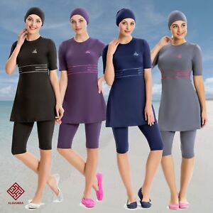 AlHamra-AL8154-Modest-Burkini-Swimwear-Swimsuit-Muslim-Islamic-3-piece-UK-10-18