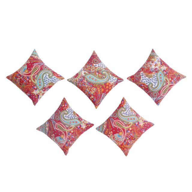 Kantha Paisley cushion covers Lot Of 5 Pcs Set Wholesale Pillow Cases