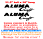 """80 PAIR OF 11.5/"""" X 28/"""" ALUMACRAFT BOAT HULL DECALS MARINE GR YOUR COLOR CHOICE"""