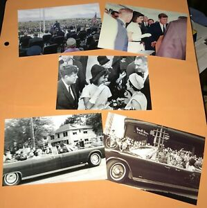 JOHN-F-KENNEDY-1963-TEXAS-TRIP-5-PHOTO-SET-JFK-ASSASSINATION-JACQUELINE-JACKIE