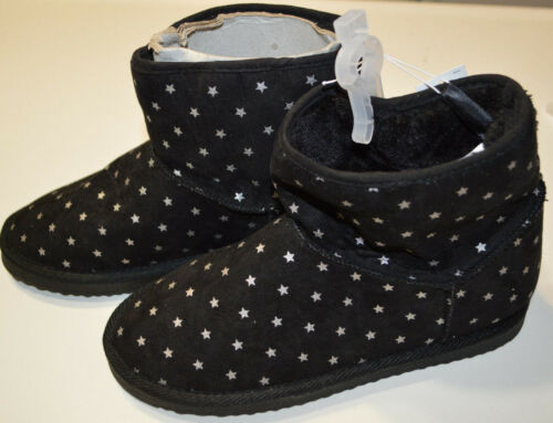 Gray Warm Tan Black Shimmer Cozy Girl/'s Old Navy Slip On Boots Sparkle