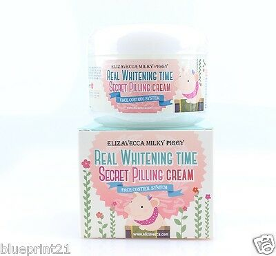Elizavecca Milky Piggy Real Whitening Time Secret Peeling Cream 100ml Free Ship