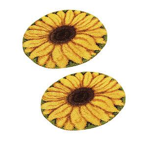 Image is loading 2-Sets-Sunflower-Latch-Rug-Hook-Kit-DIY-