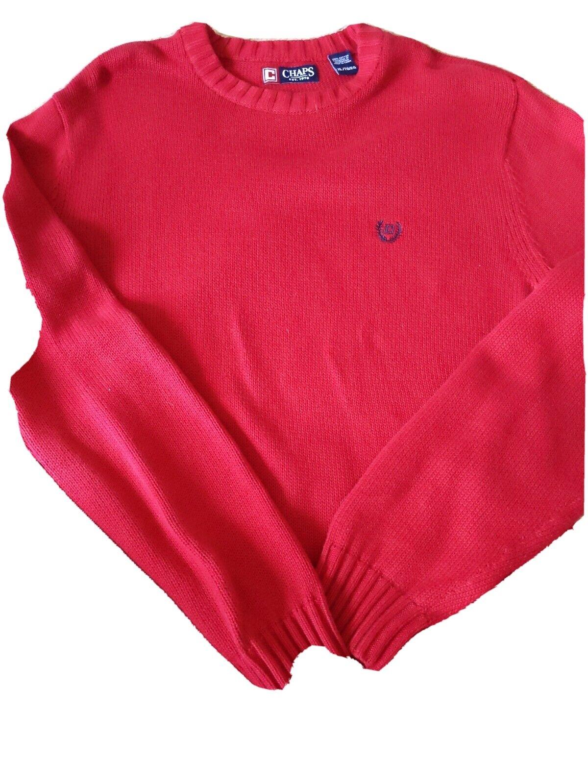 Steel Heat Gray Men/'s Chaps Classic-Fit Solid Crewneck Sweater 63600