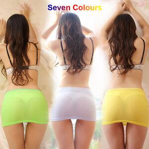 sexy womens tight skirt see through skirt micro mini erotic fantasy