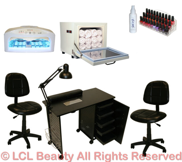 Vented Manicure Nail Table Station Dryer Rack Chair Towel Warmer ...