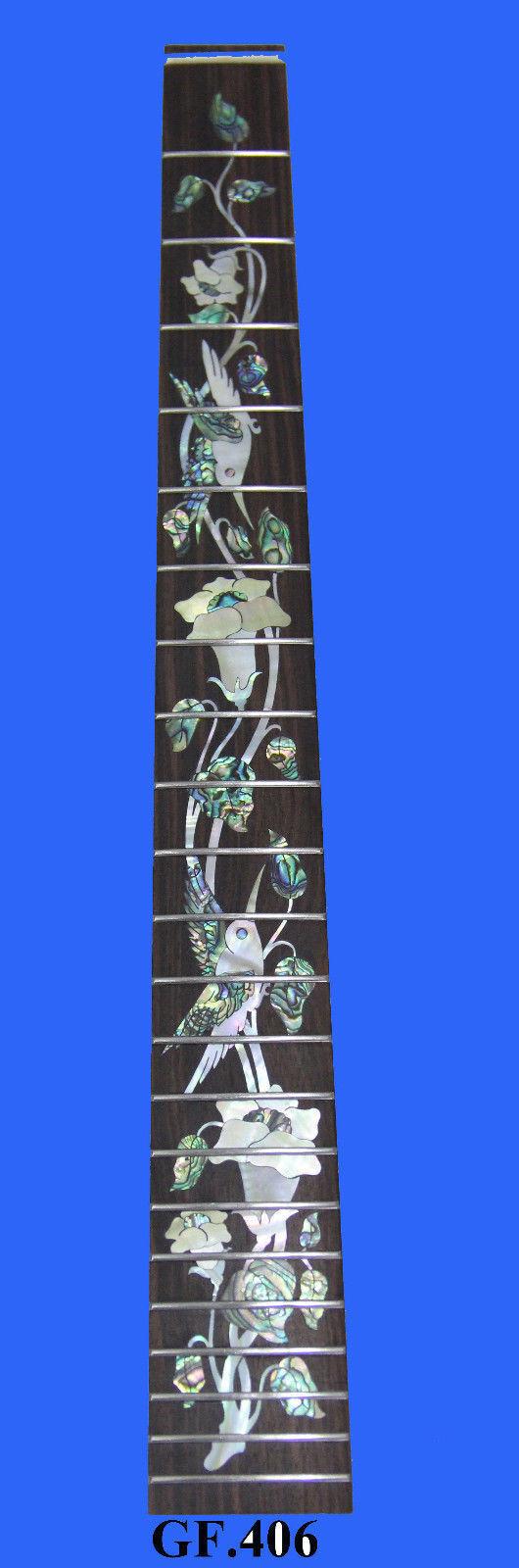 Incrustación de Antonio-pájaro - 22 Trastes - 25.5  escala escala escala sólido R 0 sewood Diapasón Guitarra GF406  deportes calientes