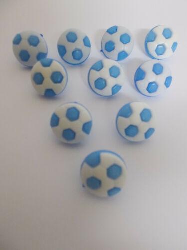 10 x Botones de Fútbol Bebé Botones aprox 14mm Estilo De Caña