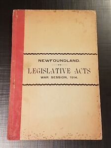 CANADA-1914-EMERGENCIES-AND-WAR-MEASURES-ACT-NF-Legislative-Acts-War-Session-WWI